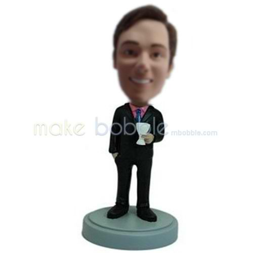 custom black suit bobblehead