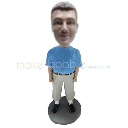 Customized casual funny man bobblehead