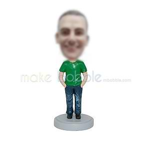 Customized casual funny man bobbleheads
