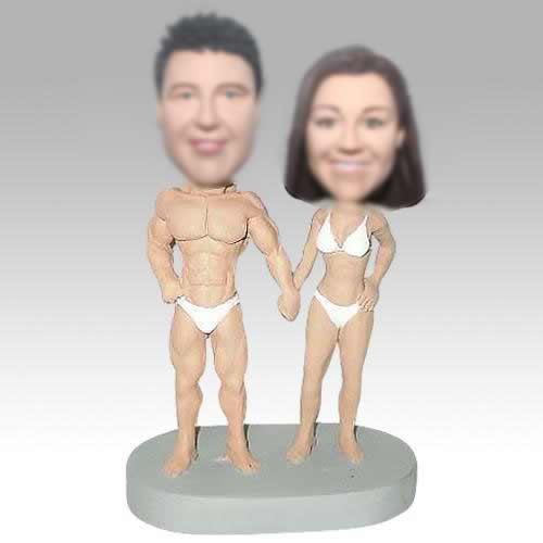 Personalized bobbleheads funny couple