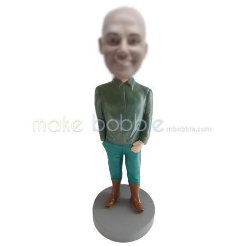 Customized casual funny man bobblehead doll