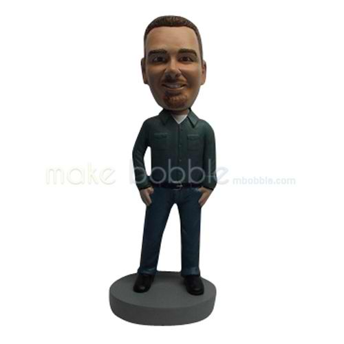 Customize Relaxing man bobblehead dolls