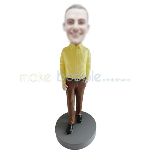 custom yellow shirt male bobbleheads