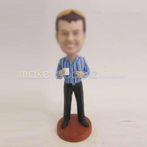 Professional custom man in office bobbleheads