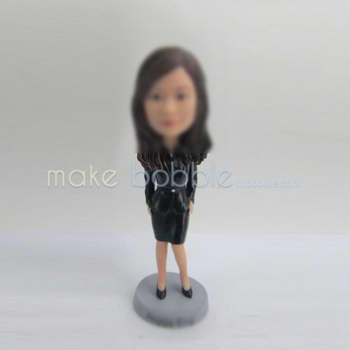 Professional custom woman in office bobbleheads