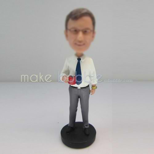 Professional custom Dad in office bobbleheads