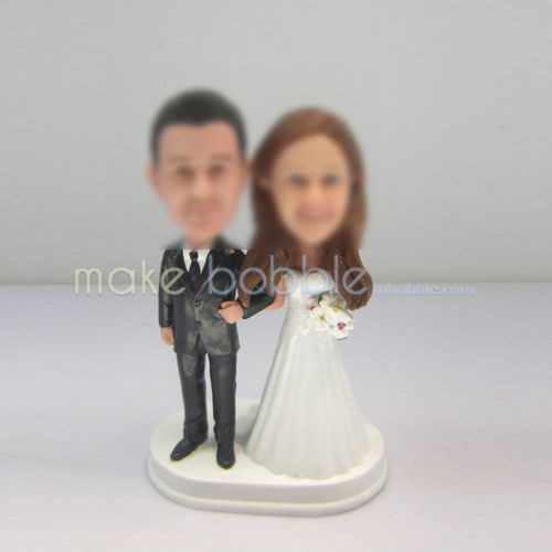 Personalized custom funny wedding cake bobblehead doll