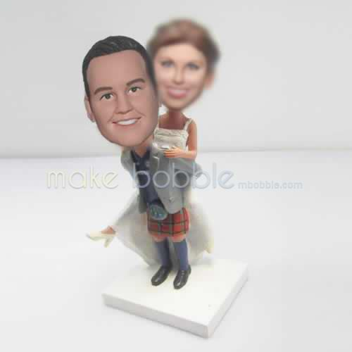 Personalized custom funny wedding cake bobblehead dolls