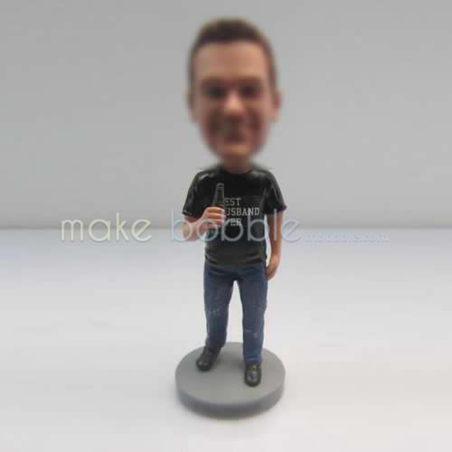 Personalized custom blue jeans fans bobbleheads