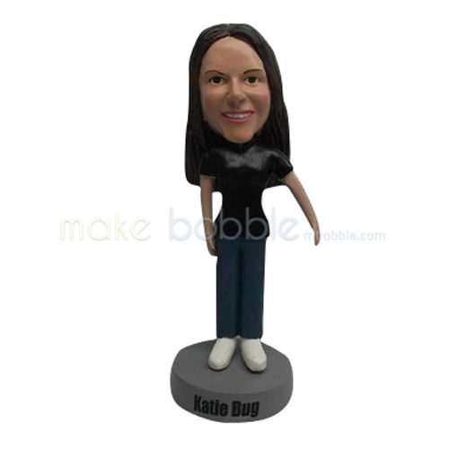 custom black t-shirt Kids bobbleheads