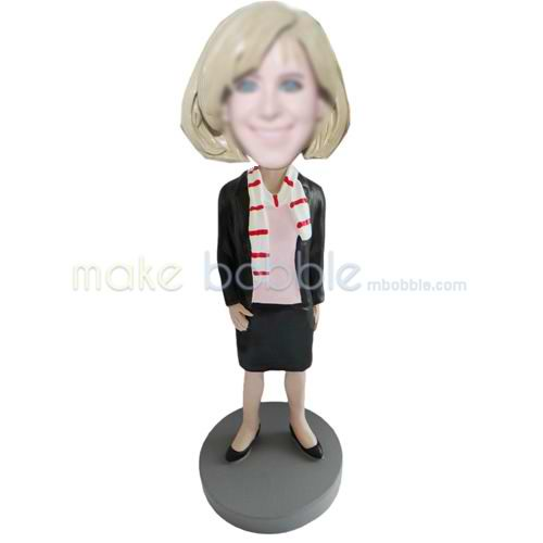 custom office lady bobbleheads