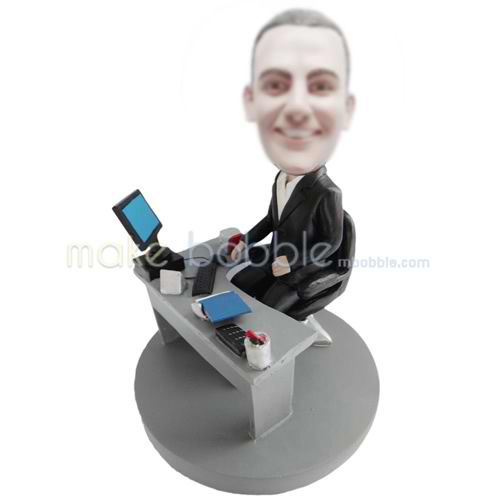Professional custom office male bobbleheads