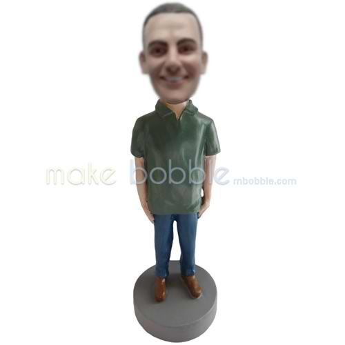 custom Leisure man bobblehead dolls