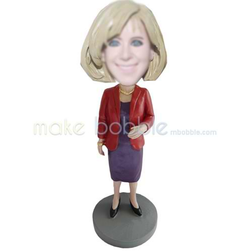 custom office lady bobble heads