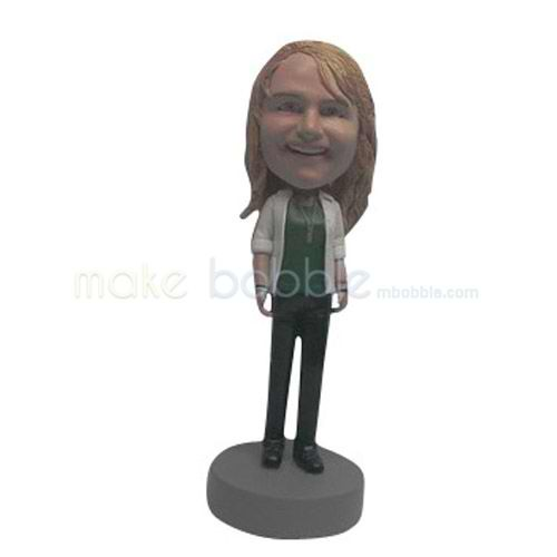 Custom happy Kids bobbleheads