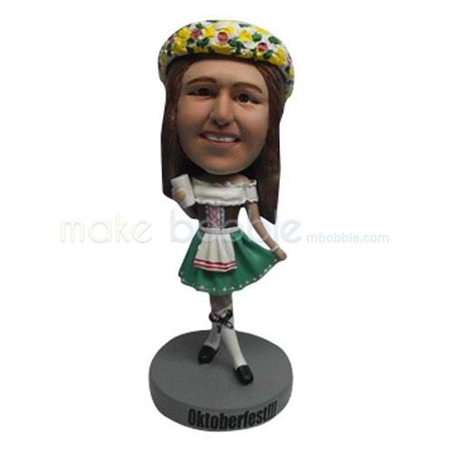 Custom dress Kids bobbleheads