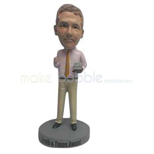 Custom work in office man bobble head