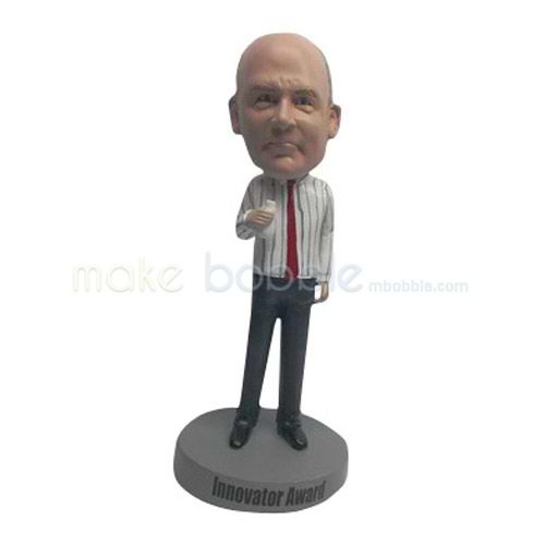 Custom work in office man bobblehead doll