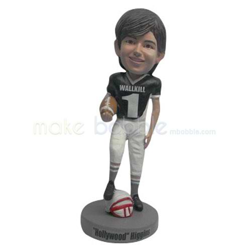 Custom man and Rugby bobbleheads