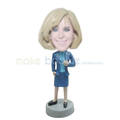 custom office woman bobble head