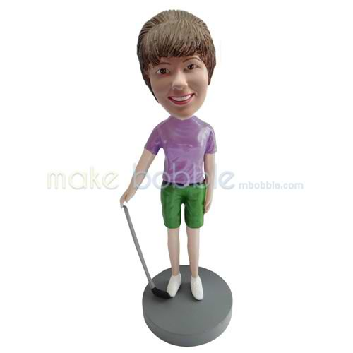custom golf bobblehead doll