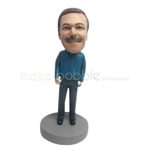 Custom work in office man bobble heads