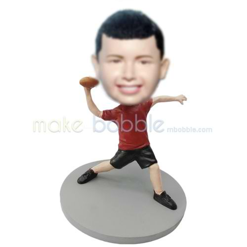 Professional custom Rugby Athlete bobbleheads