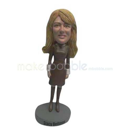 Custom fashion woman bobbleheads