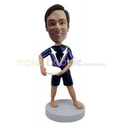 Professional custom male Rugby bobbleheads