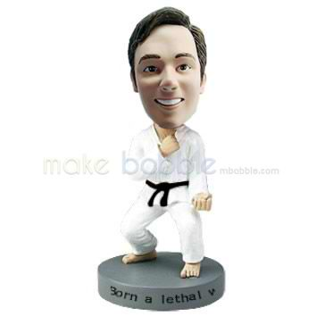 Professional custom Taekwondo bobble heads