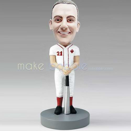 Professional custom male baseball bobbleheads