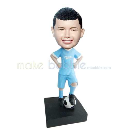 Professional custom football player bobble heads