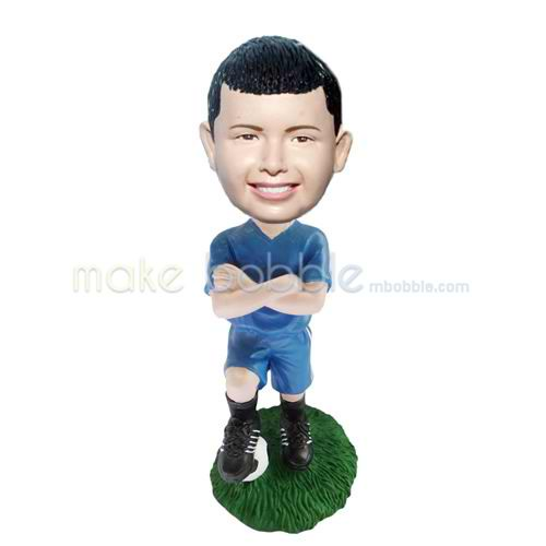Personalized custom football player bobblehead