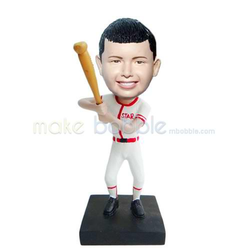 Professional custom baseball bobbleheads