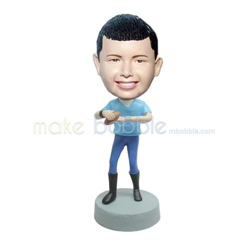 Personalized custom Rugby Athlete bobble heads