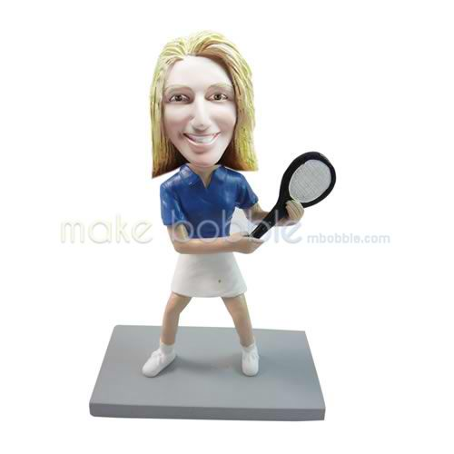 Professional custom female Tennis bobbleheads