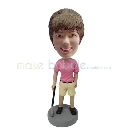 custom female golf bobbleheads