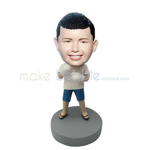 Professional custom cute boy bobbleheads