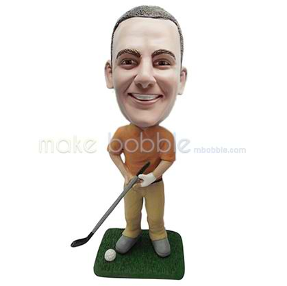Professional custom golf male bobbleheads
