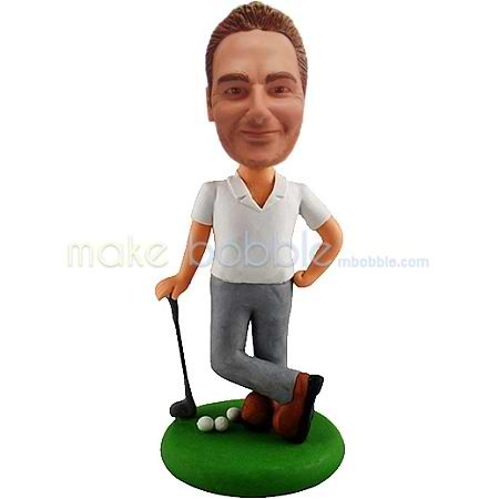Professional custom golf male bobble heads