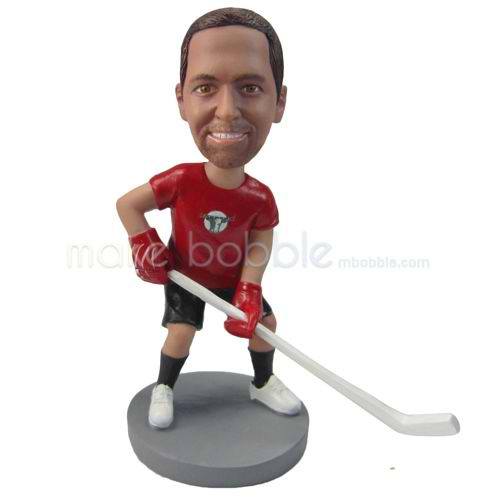 personalized custom hockey player bobbleheads