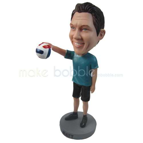 personalized custom volleyball player bobbleheads