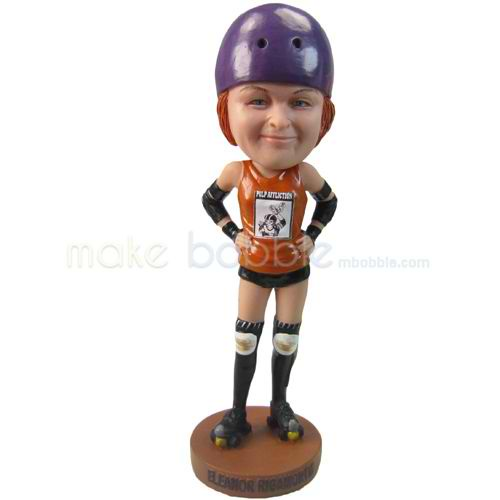 custom roller skating player bobbleheads