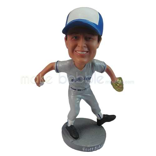 personalized custom blue jays baseball player bobbleheads