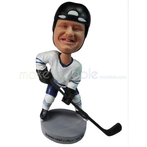 personalized custom chubby ice hockey player bobbleheads