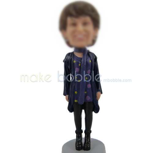 bobblehead of Casual woman