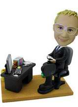 Businessman in Office Bobblehead