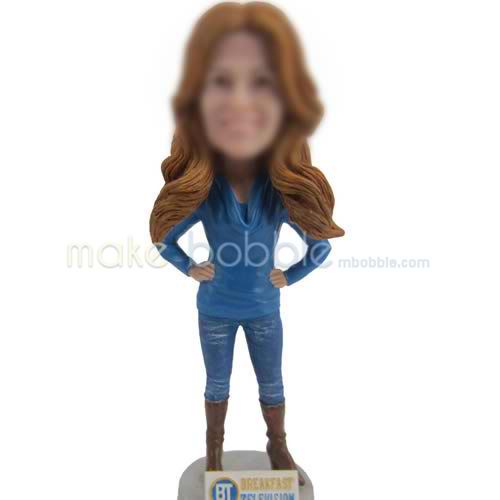 custom bobblehead of blue jeans