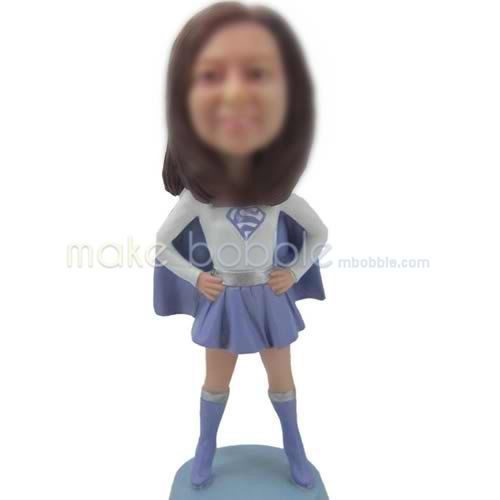 custom bobbleheads of super girl