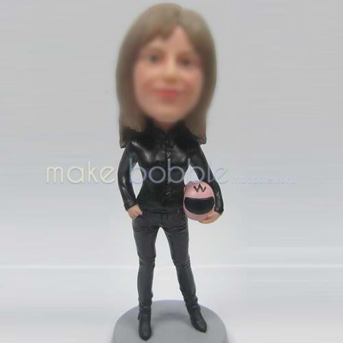 custom sports girl bobbleheads